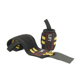 "LIFT Sports Gear S3 12"" Wraps Black Yellow"